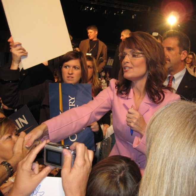 Gov. Sarah Palin Campaigning in Tampa, Fla., Oct. 26, 2008