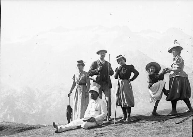 Famille Crouzats, au Port de Venasque, Luchon, 6 septembre 1898