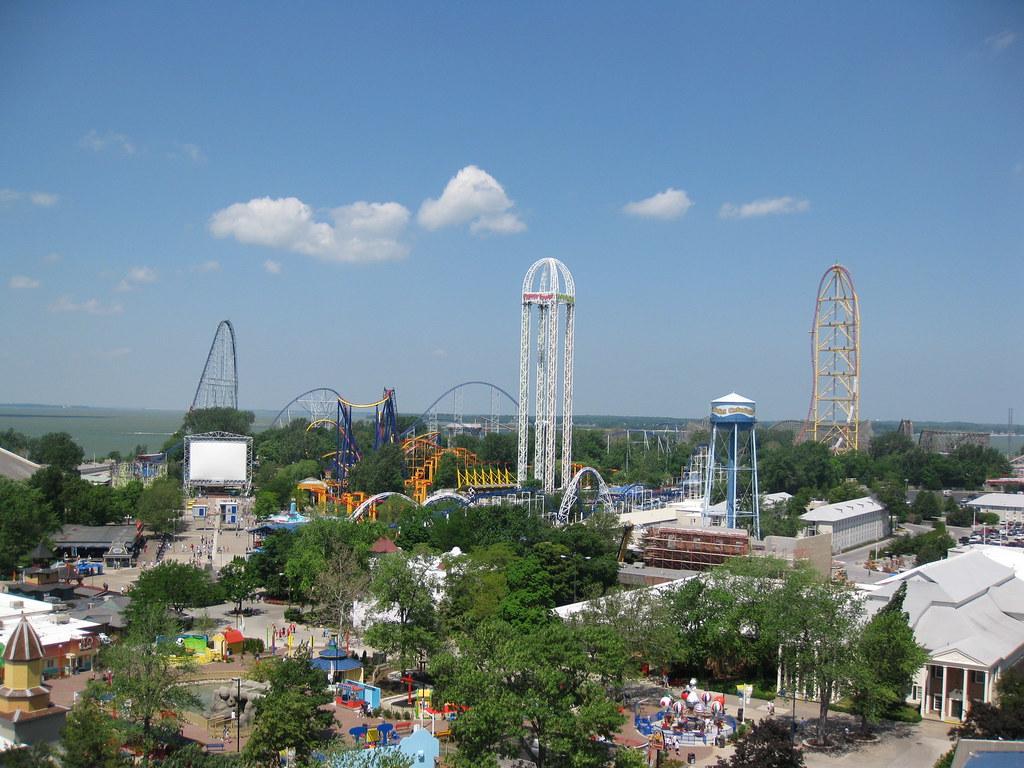 Cedar Point sky-view
