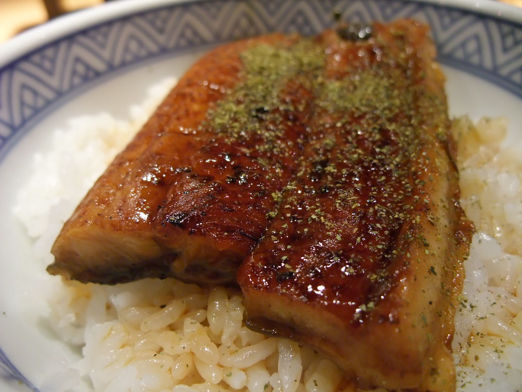 grilled eel donburi