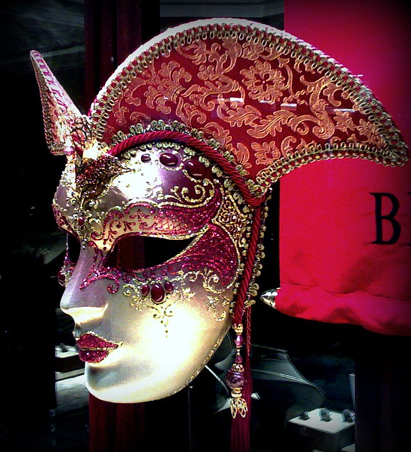 Red White Gold Jewelled Mask  Female  Flickr  Photo