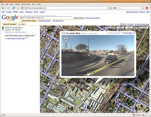 "Google Maps - Austin ""Street View"""