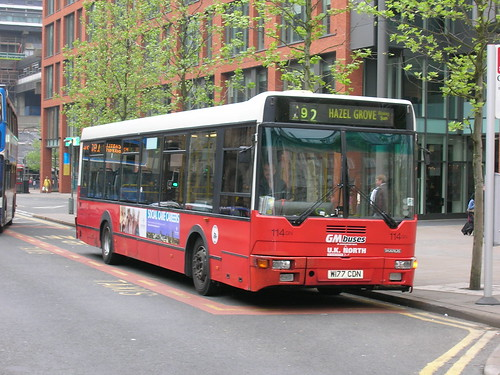 114 Ikarus DAF W177 CDN, GM Buses/UK North, Piccadilly Gardens