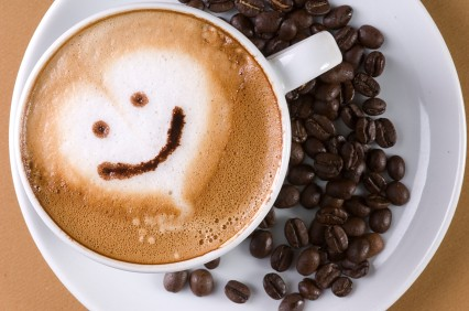 Coffee Smiley Face! By Ballistik Coffee Boy