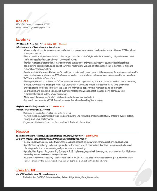 ResumeBear Online Resume Artist Resume Sample  Flickr