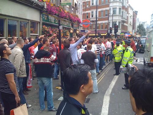 Hooligans in Covent Garden