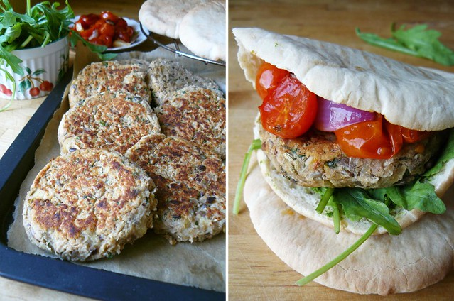 White bean patties with parsnip and fennel