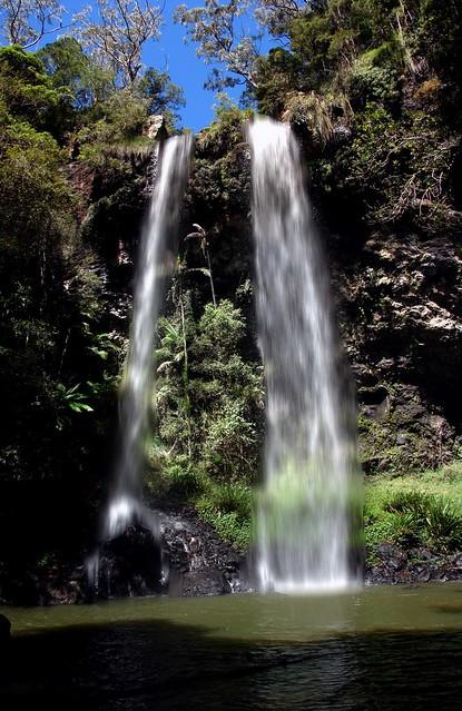 Twin Falls Springbrook national park Australia  See