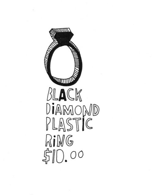 Black Plastic Ring