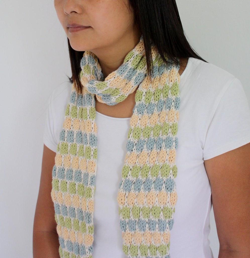 faux dotty scarf