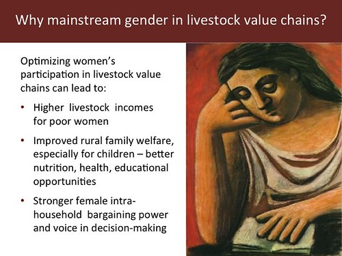 Slide 12: 'Women and Livestock', 7 Mar 2014