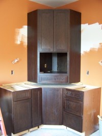 Microwave corner cabinet | Flickr - Photo Sharing!