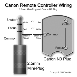 Canon Remote Controller Wiring (25mm miniplug and N3 plug) | Flickr  Photo Sharing!