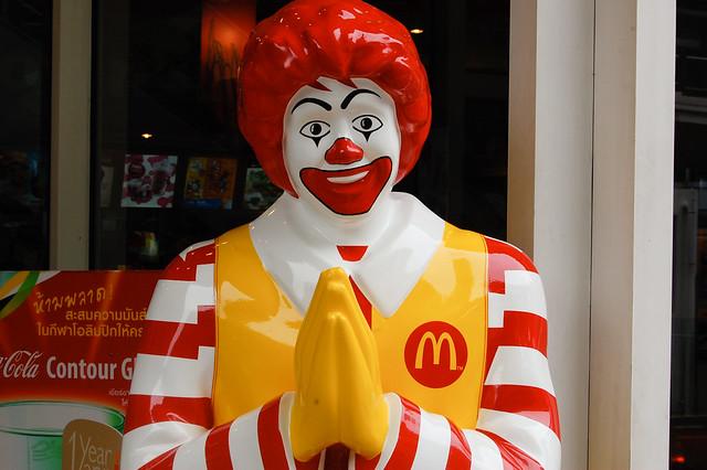 Wai'ing Ronald McDonald