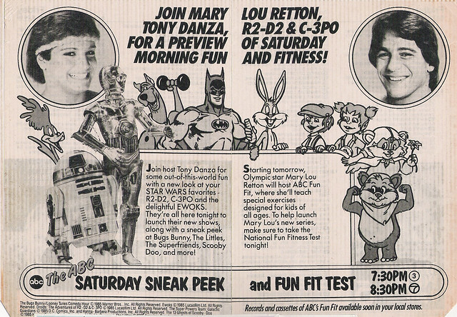 ABC Saturday morning cartoons ad, 1985