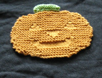 pumpkin washcloth
