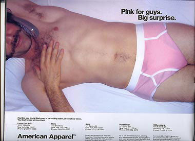 skinny dude pink underwear porn stache american apparel ad by bettybacon