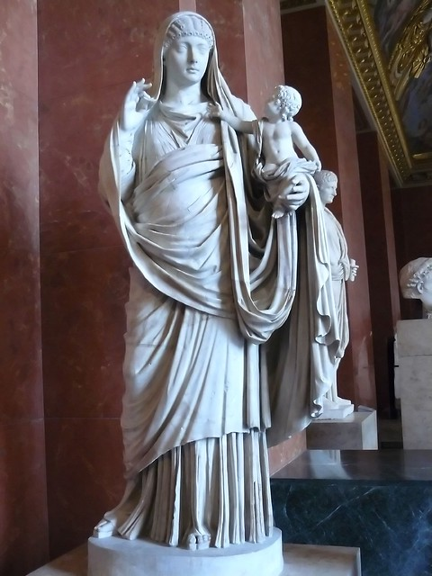 The Roman Empress Messalina wife of Claudius with little
