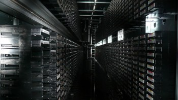 Tape library, CERN, Geneva 2