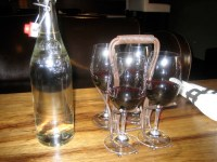 Wine flight holder | at the Purple cafe in Woodinville ...