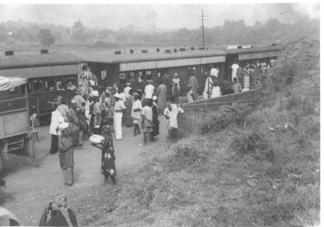 Railway Station in the Protectorate Sierra Leone c