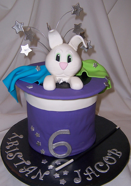 Rabbit In A Hat Cake Magic Themed Birthday Courtney