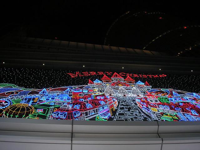 Christmas illuminations at Nagoya Station
