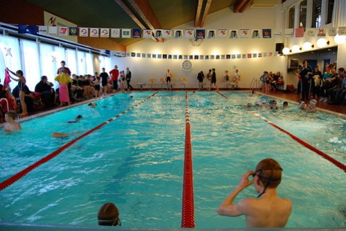 The swim pool in Leirvík, Faroe Islands