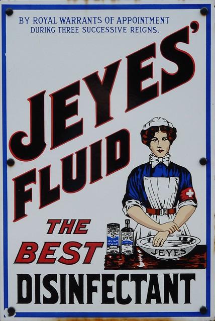 Jeyes Fluid Early 20th Century Enamelled Metal