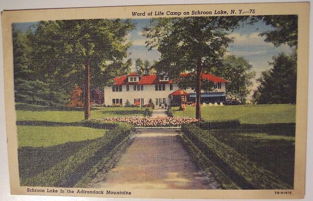 Vintage Postcard Word of life camp on Schroon Lake New Y