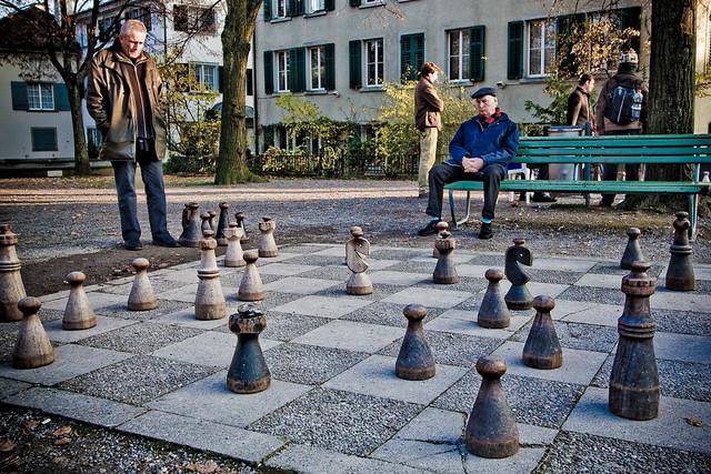 Giant Chess Board in Lindenhof Zurich  Flickr  Photo Sharing
