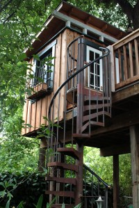 spiral staircase tree house | Just finished the staircase ...