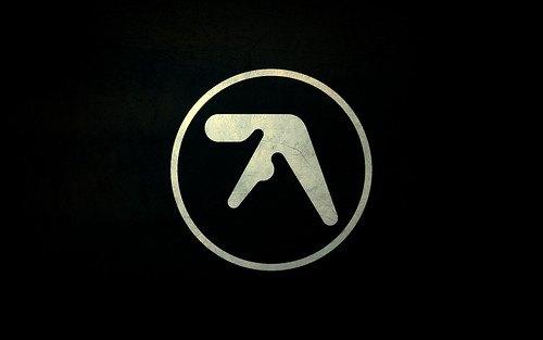 Textured Aphex Twin logo widescreen desktop wallpaper - 1680x1050