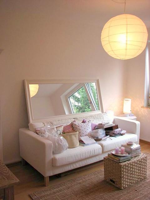 deciding mirror over sofa  ideas paint wall behind