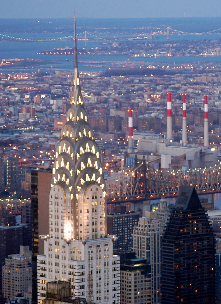 New York City Full Hd Wallpaper Chrysler Building Seen From Empire State Building