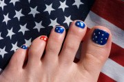 fourth of july toenail design