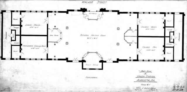 Augusta Union Station Ground Floor Plan 1918  Flickr