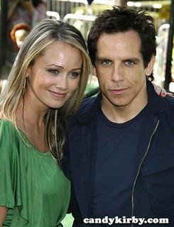 "Christine Taylor and Ben Stiller at the ""Madagascar: Escape 2 Africa"" Premiere"