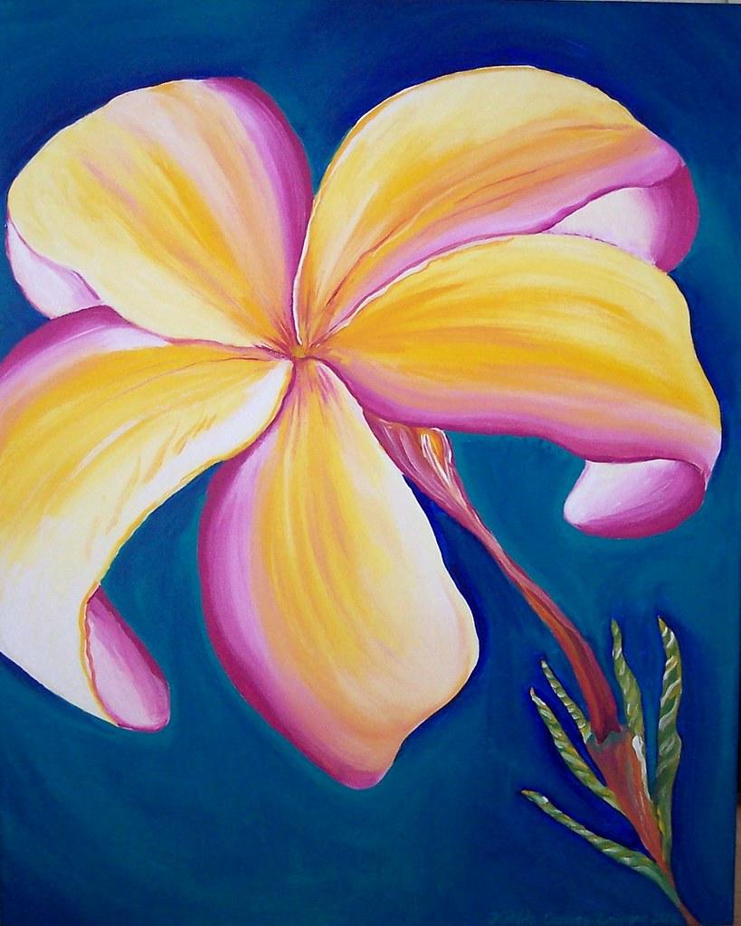 Exotic Hawaiin Flower BRIGHT by Matilde Zelinger