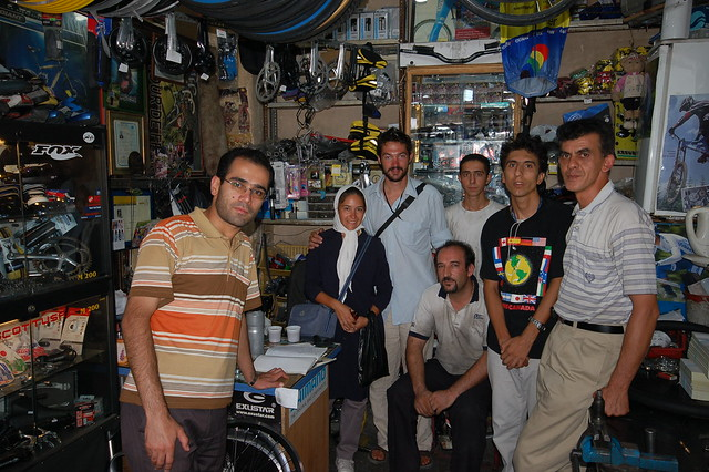 Saeed Mohammedi's Bike Shop, Tabriz, Iran