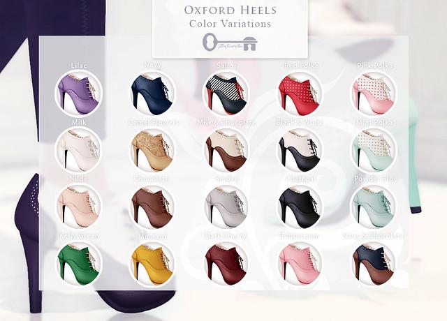 Oxford Heels - Colors
