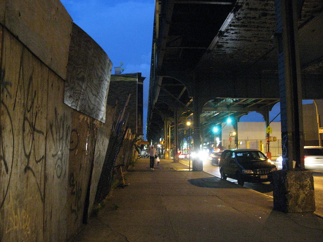 walking at night, bushwick to queens