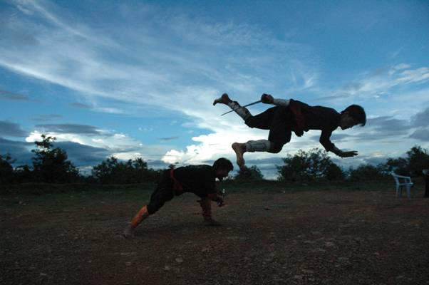 Catch me if you can - Manipur Martial art form, India
