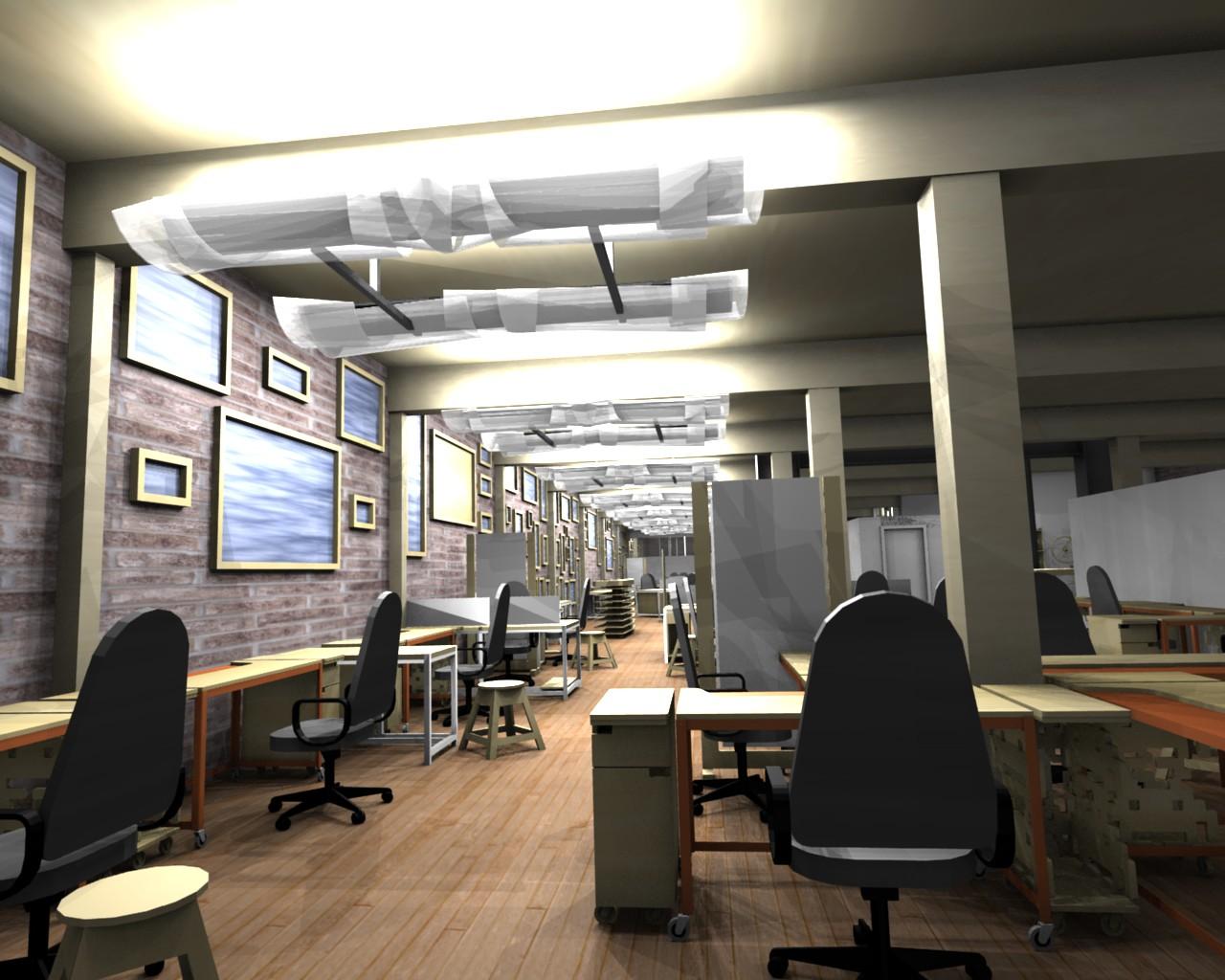 Beau Modern Industrial Office Design Ideas