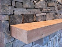 Rough cut cedar mantle | Flickr - Photo Sharing!