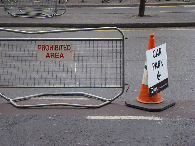 """Cycle lane is """"prohibited area"""", for Christmas"""