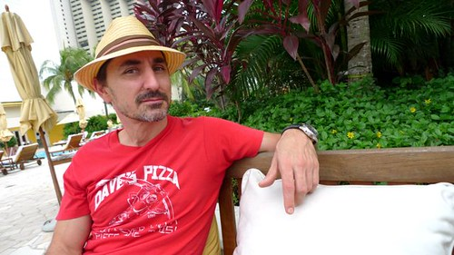 David Droga chills in the Singapore sun