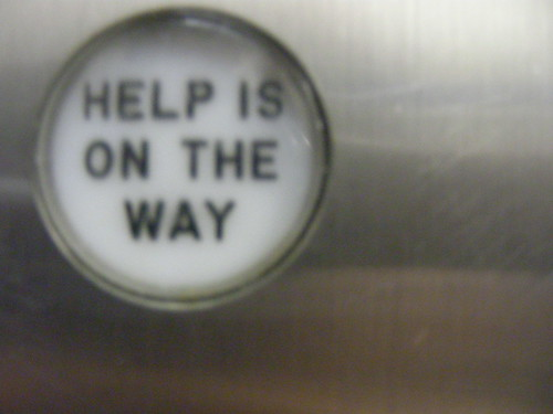 An elevator button in the New Yorker hotel.