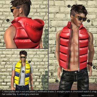 Muism | Retro Puffer Vest