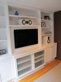 Wall Unit with flat screen TV. Designed and built by New Y ...